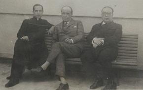 Zubiri, Ortega y Morente en la Ciudad Universitaria, 1934