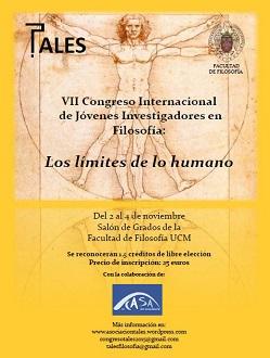 Cartel anunciador del VII Congreso de Jóvenes Investigadores en Filosofía